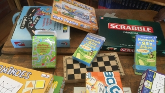 Games in a library in South Africa